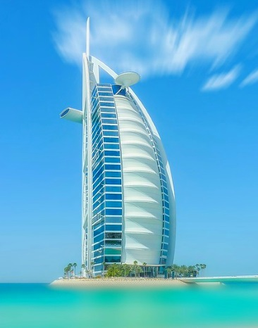 Hotel Burj al Arab in the sea